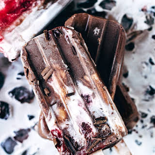Dairy Free Black Forest Popsicles.