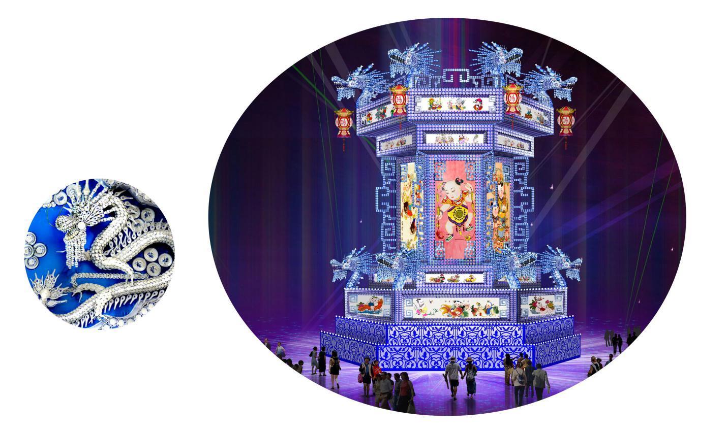 2瓷器宫灯