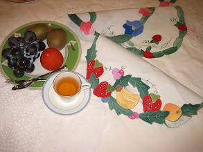 Photo: 貼布繡桌墊高10〜25cm圓