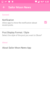 Sailor Moon News App Screenshot