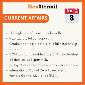 Daily Current Affairs - February 08, 2020 (The Hindu, PIB, Fact Pedia)