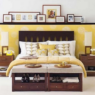 accent wall and end of bed storage.jpg