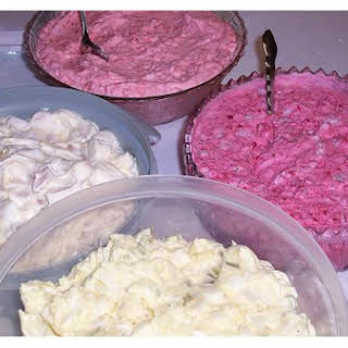 Pink Fruit Salad.