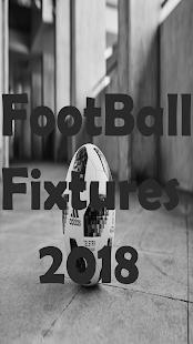 Football Fixture 2018 - náhled