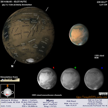 Photo: Your Martian weather report.  12hrs ago lots of AM clouds and perhaps some dust over Acidalium and Chryse.