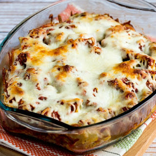 Easy Cheesy Low-Carb Meatball Artichoke Casserole.