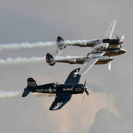lightning and corsair by Nick Wastie - Transportation Airplanes