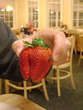 Photo: Olhem o tamanho desse morango.....