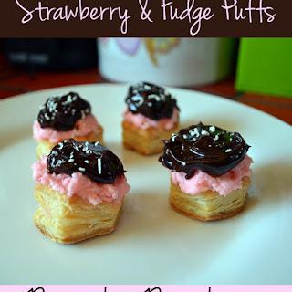 Strawberry & Fudge Puffs.
