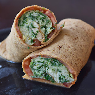 Pesto Spinach Feta Wraps