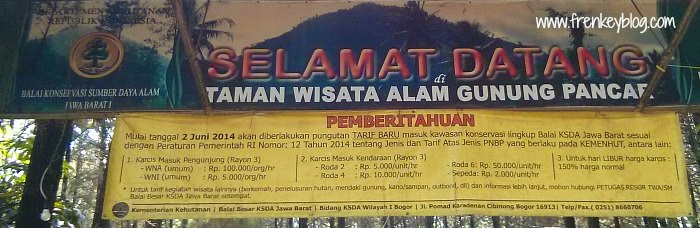 Harga Tiket Masuk Taman Wisata Alam Gunung Pancar