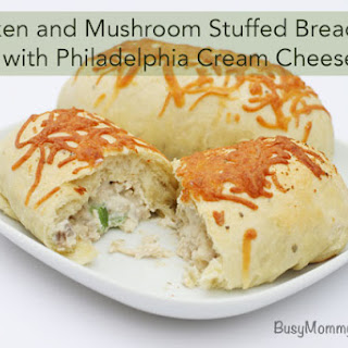 Chicken and Mushroom Stuffed Breadsticks with Philadelphia Cream Cheese Recipe