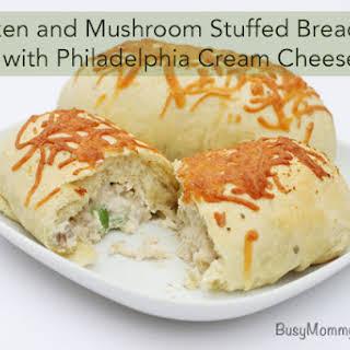 Chicken and Mushroom Stuffed Breadsticks with Philadelphia Cream Cheese.