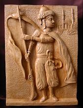 Photo: Guerrero árabe. Tamaño: 47 x 34 cm. Talla en madera. Woodcarving.    Para leer algo más en relación con esta obra ir al blog: http://tallaenmadera-woodcarving-esculturas.blogspot.com/2009/06/guerrero-arabe.html