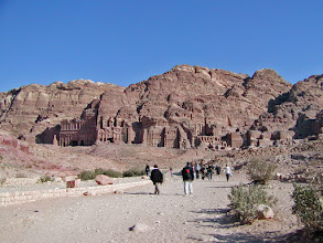 Photo: A wider view of the Tombs--left to right are the Corinthian, Silk and Urn Tombs.
