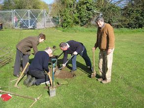 Photo: Planting the Jubilee oak tree 21 Apr 2012