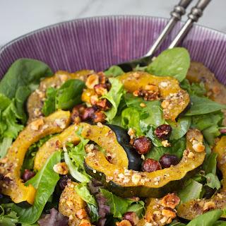 Honey-Roasted Acorn Squash Salad with Hazelnuts + Balsamic Vinaigrette