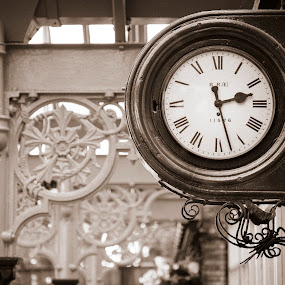Clock by Stefen Dicks - Artistic Objects Other Objects ( platform, time, clock, vintage )