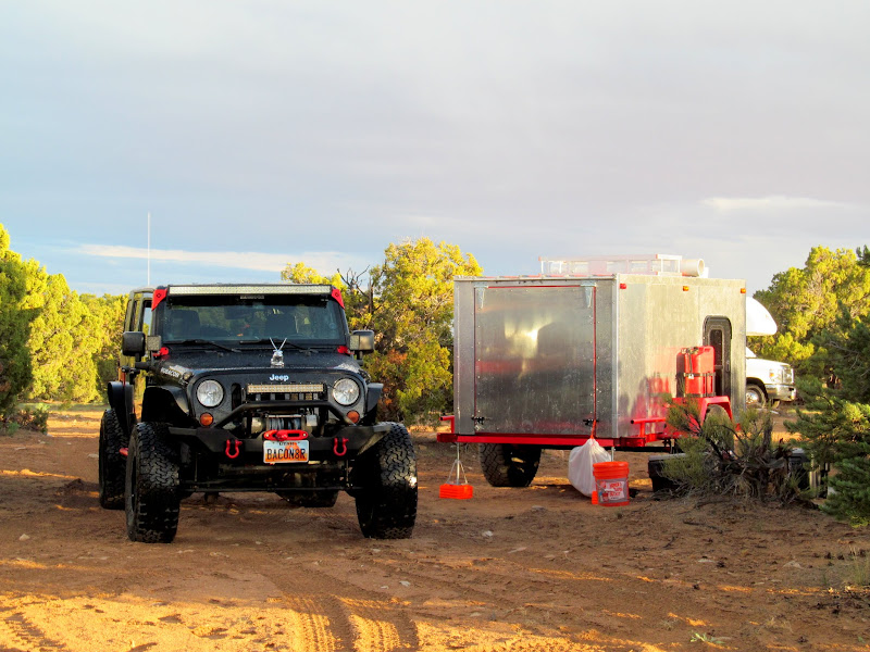 Photo: Ken's Jeep and hand-built trailer