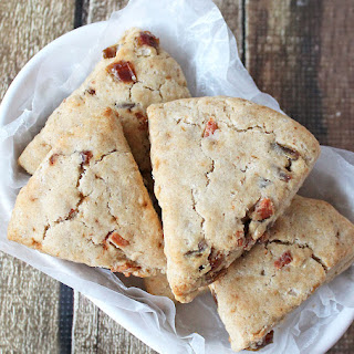 Gluten Free Date and Bacon Scones.