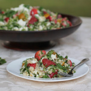 Feta and Strawberry Tabouleh