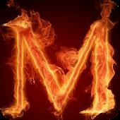 Fiery letter M Live WP