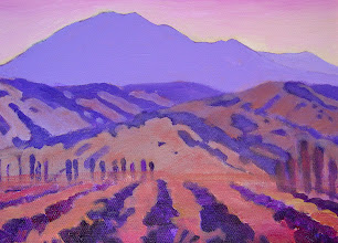 Photo: Diablo Dusk, acrylic on canvas by Nancy Roberts, copyright 2014. Private collection.