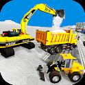 Snow Excavator Crane Simulator icon