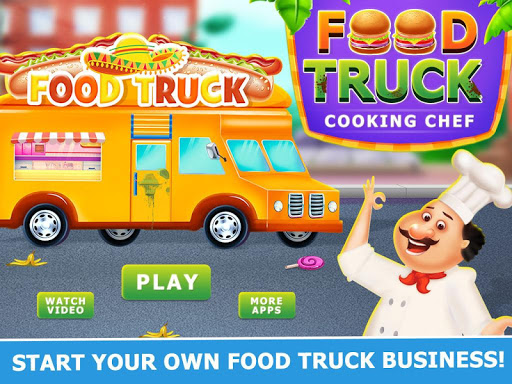 Street Food Truck Cooking Chef