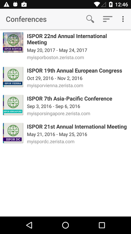 ISPOR 2017- screenshot