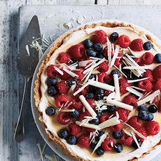Berry and White Choc Tart.