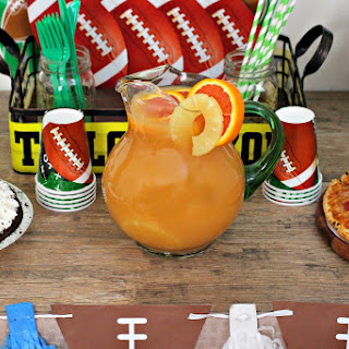 Football Party Punch, Pizza, and Pie
