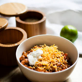 Ground Beef Chili with beans.