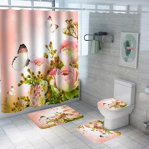 Set pentru baie: perdea, covorase si husa de toaleta, Fantasy