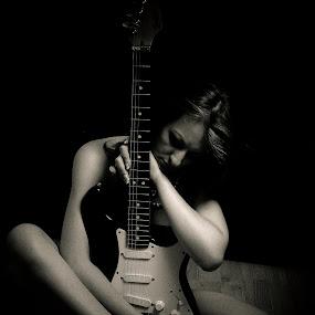 Missing.... by Bryn Graves - People Portraits of Women ( music, guitar, mono, portrait, best female portraiture,  )