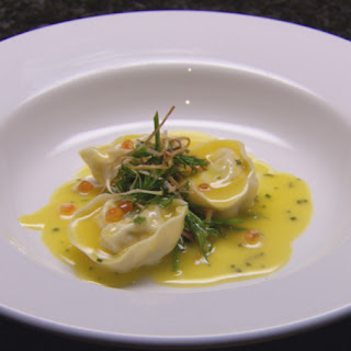 Scallop tortellini in Citrus Butter Sauce