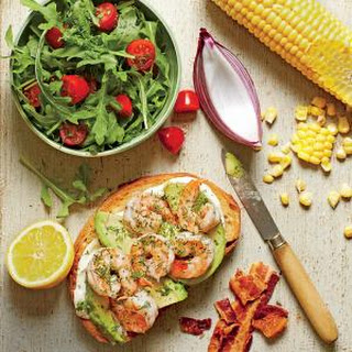 Open-Faced Shrimp-and-Avocado Sandwiches