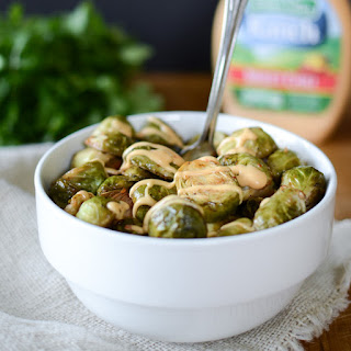 Sweet Chili Ranch Roasted Brussels Sprouts