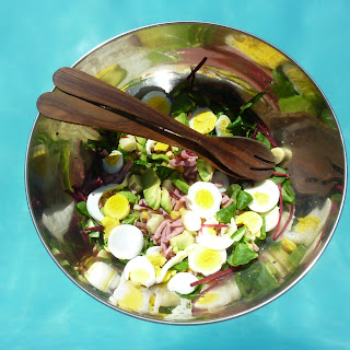 Egg, Avocado and Heart of Palm Salad