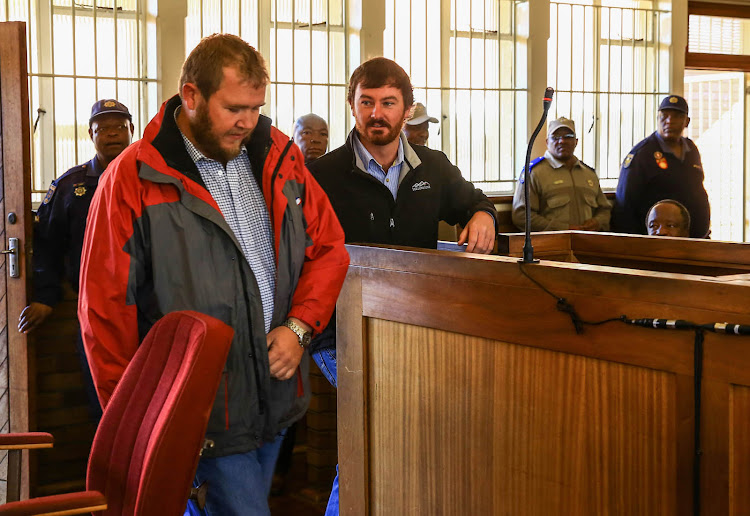 The two farmers Pieter Doorewaard and Phillip Schutte are accused of murdering Matlhomola Mosweu appeared in the Coligny Magistrate court.