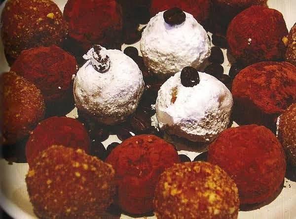 White Chocolate Coffee Rum Balls