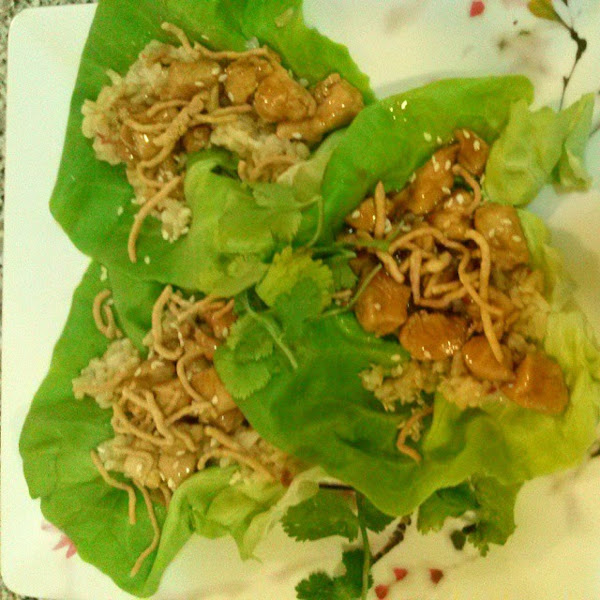 Sweet, Savory & Spicy Chicken Lettuce Wraps Recipe