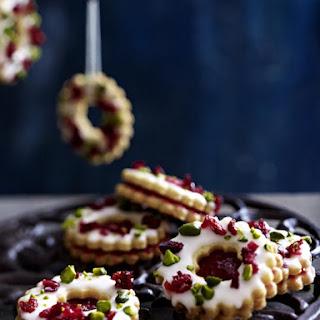 Cherry-Pistachio Linzer Cookies