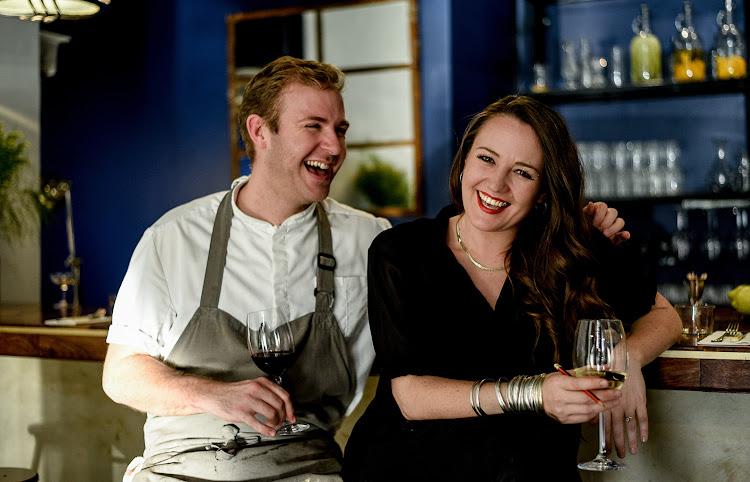 Chef's Alex and Eloise Windebank.