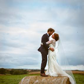 Embracw by Amy Laskye - Wedding Bride & Groom ( love, outdoor photography, wedding, 2016, bride and groom )