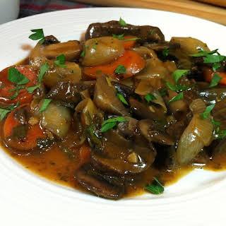 Pressure Cooker Mushroom Bourguignon.