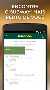 Subdelivery - SUBWAY® Brasil- screenshot thumbnail