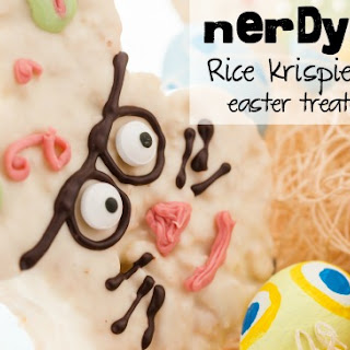 Nerdy Bunny Rice Krispie Treat Pops for Easter {GF & Vegan}