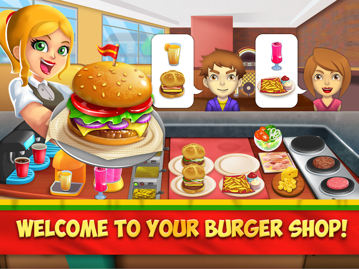 My burger shop fast food restaurant game android