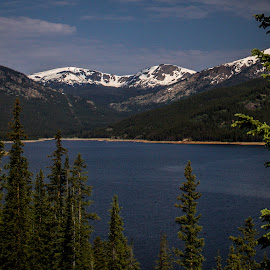 Turquoise Lake by Jennifer  Loper  - Landscapes Waterscapes ( leadville, blue water, mountains, rocky mountains, lake, trees )